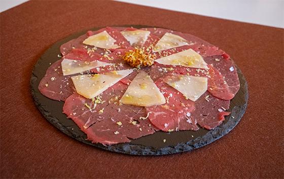 Carpaccio de ternera y queso manchego curado artesano DOP Las Terceras
