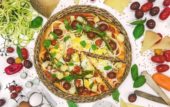 Pizza Caprese al estilo Las Terceras