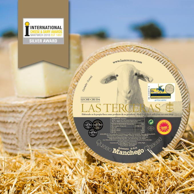 Plata para los Quesos Las Terceras D.O.P en el International Cheese Awards
