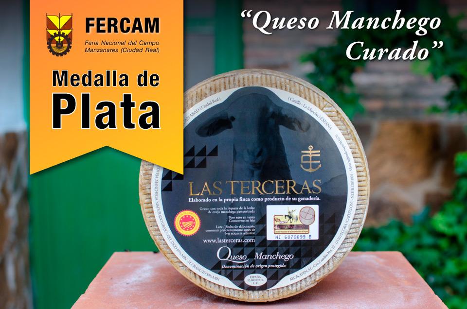 Nuestro queso manchego curado medalla de plata en Fercam
